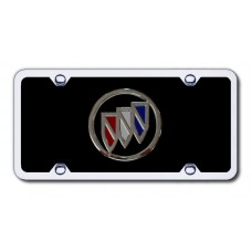 Buick Logo Chrome on Black License PLate Kit