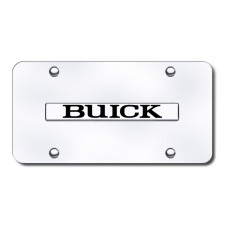 Buick Name Chrome on Chrome License Plate
