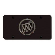 Buick Chrome/Black Logo on Black License Plate