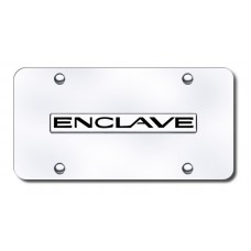 Enclave Name Chrome on Chrome License Plate