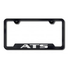 ATS Laser Etched Cut- Out Black License Plate Frame