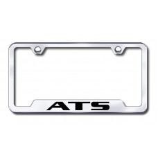 ATS Laser Etched Chrome Cut-Out Metal License Plate Frame