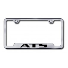 ATS Laser Etched Brushed Stainless Cut-Out Metal License Plate Frame