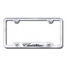 Cadillac Laser Etched Chrome Cut-Out License Plate Frame