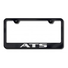 ATS Laser Etched Black License Plate Frame