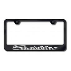 Cadillac 3D Chrome on Black Metal License Plate Frame