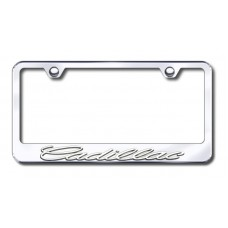 Cadillac 3D Chrome/Chrome Metal License Plate Frame