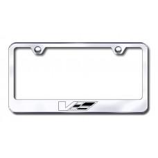 Cadillac V Logo Laser Etched Chrome License Plate Frame