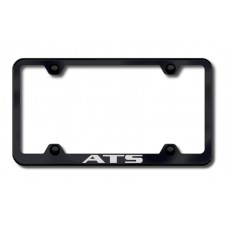 ATS Wide Body Laser Etched Black License Plate Frame