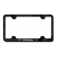 Cadillac Wide Body Laser Etched Black License Plate Frame