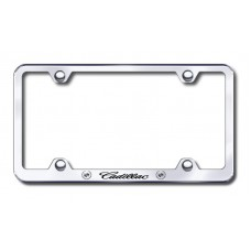 Cadillac Wide Body Laser Etched Chrome License Plate Frame