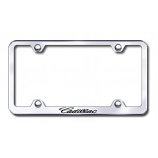 Cadillac (Name) Wide Body Laser Etched Chrome License Plate Frame