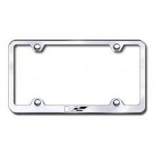 Cadillac V Logo Wide Body Laser Etched Chrome License Plate Frame