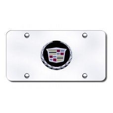 Cadillac (New) Logo Black/Chrome on Chrome License Plate