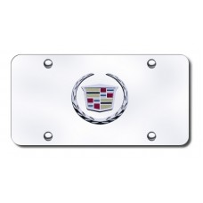 Cadillac (New) Logo Chrome/Chrome License Plate