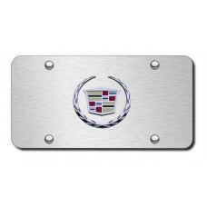 Cadillac (New) Logo Chrome/Brushed Stainless Steel License Plate