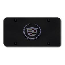 Cadillac (New) Logo BlkPrl/Black License Plate