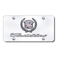 Dual Cadillac Chrome on Chrome License Plate