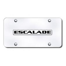 Escalade Name Chrome on Chrome License Plate