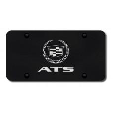 ATS Laser Etched Black License Plate