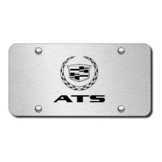 ATS Laser Etched Brushed Stainless Steel License Plate