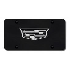 Cadillac (New Logo Only) Laser Etched Black License Plate