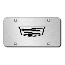 Cadillac (New Logo Only) Laser Etched Brushed Stainless Steel License Plate