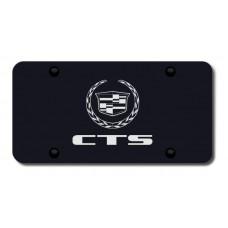 CTS Laser Etched Black License Plate
