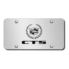 CTS Laser Etched Brushed Stainless Steel License Plate