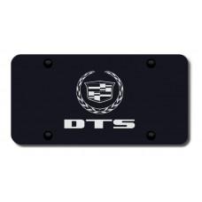 DTS Laser Etched Black License Plate