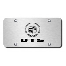 DTS Laser Etched Brushed Stainless License Plate
