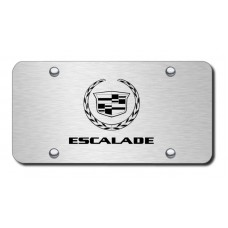 Escalade Laser Etched Brushed Stainless Steel Plate