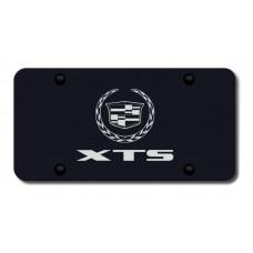 XTS Laser Etched Black License Plate