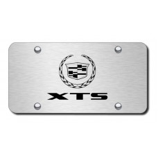 XTS Laser Etched Brushed Stainless Steel License Plate