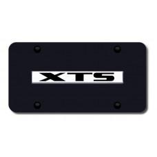 XTS Name Chrome on Black License Plate