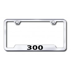 300 Laser Etched Chrome Cut-Out License Plate Frame