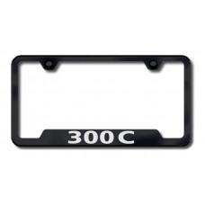 300C Laser Etched Cut-Out Black License Plate Frame