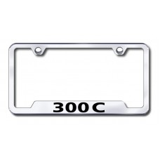 300C Laser Etched Chrome Cut-Out License Plate Frame