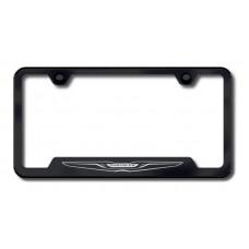 Chrysler Logo Laser Etched Black Cut-Out License Plate Frame