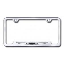 Chrysler Logo Laser Etched Chrome Cut-Out License Plate Frame