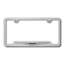 Chrysler Logo Laser Etched Brushed Stainless Steel Cut-Out License Plate Frame