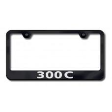 300C Laser Etched Black License Plate Frame