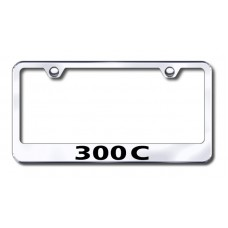 300C Laser Etched Chrome License Plate Frame