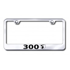 300S Laser Etched Stainless Steel License Plate Frame