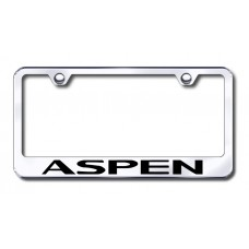 Aspen Laser Etched Stainless Steel License Plate Frame