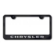 Chrysler Laser Etched Black License Plate Frame