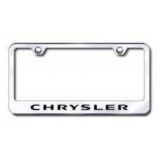 Chrysler Laser Etched Stainless Steel License Plate Frame