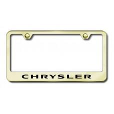 Chrysler Laser Etched Gold License Plate Frame