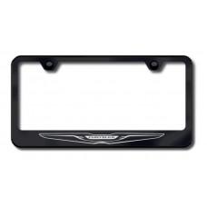 Chrysler Logo Laser Etched Black License Plate Frame