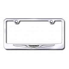 Chrysler Logo Laser Etched Stainless Steel License Plate Frame